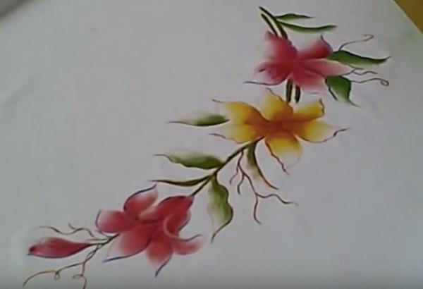 Pintura En Tela Flores