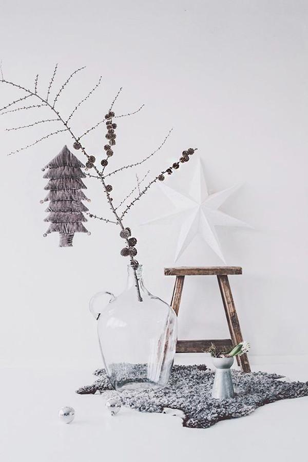 2 decoracion navidad balnco