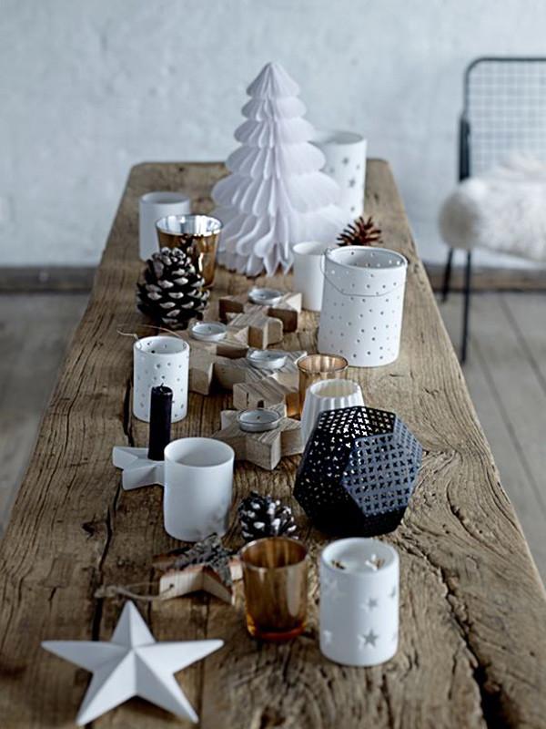 6 decoracion navidad balnco