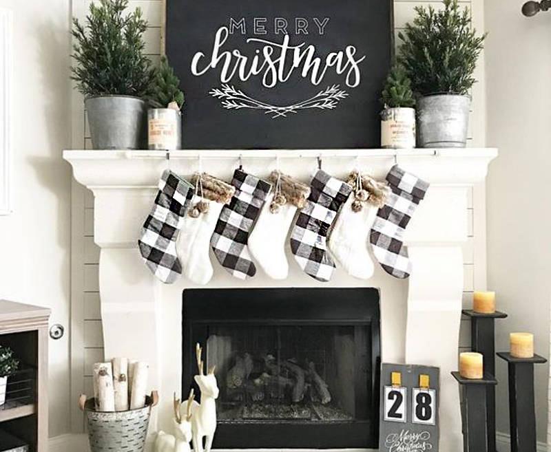 8 decoracion navidad negro