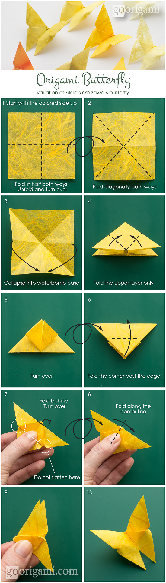 pasos para mariposa en origami